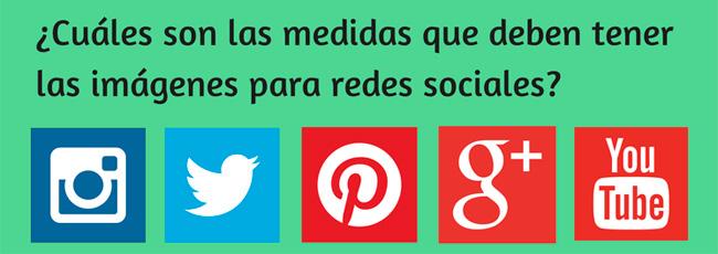 medidas de las imágenes de las redes sociales