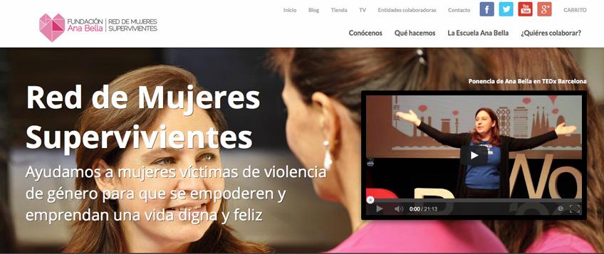 Web Fundación Ana Bella