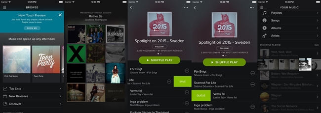 Música en el móvi con Spotify