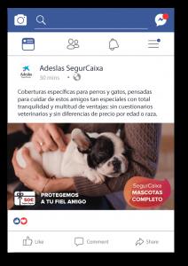Anuncio Facebook Ads Adeslas
