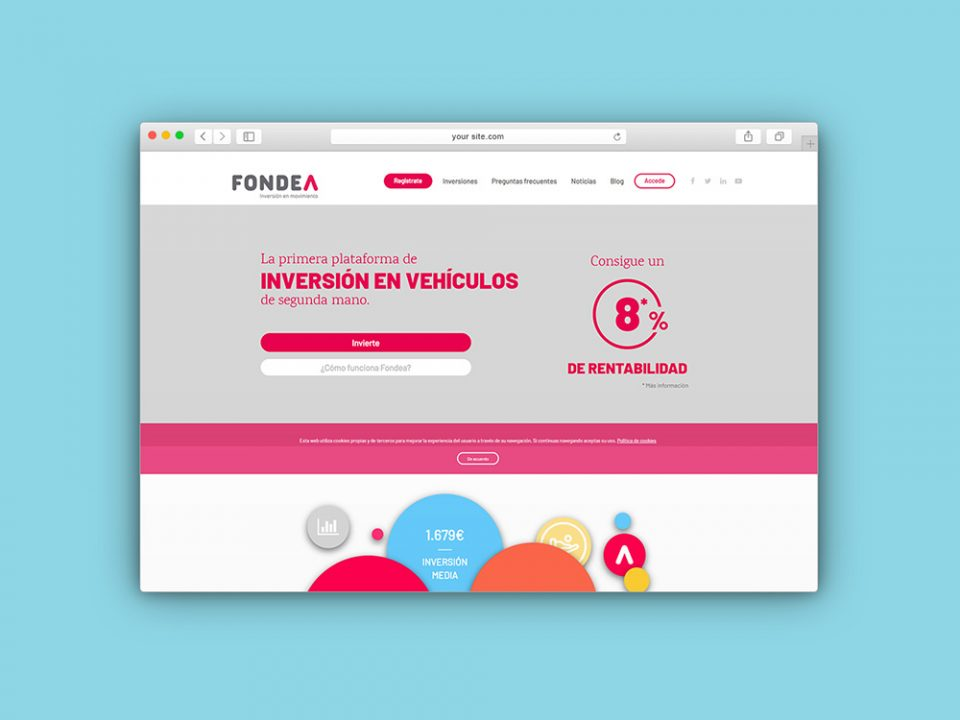 ejemplo mockup navegador web