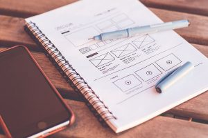 wireframe papel